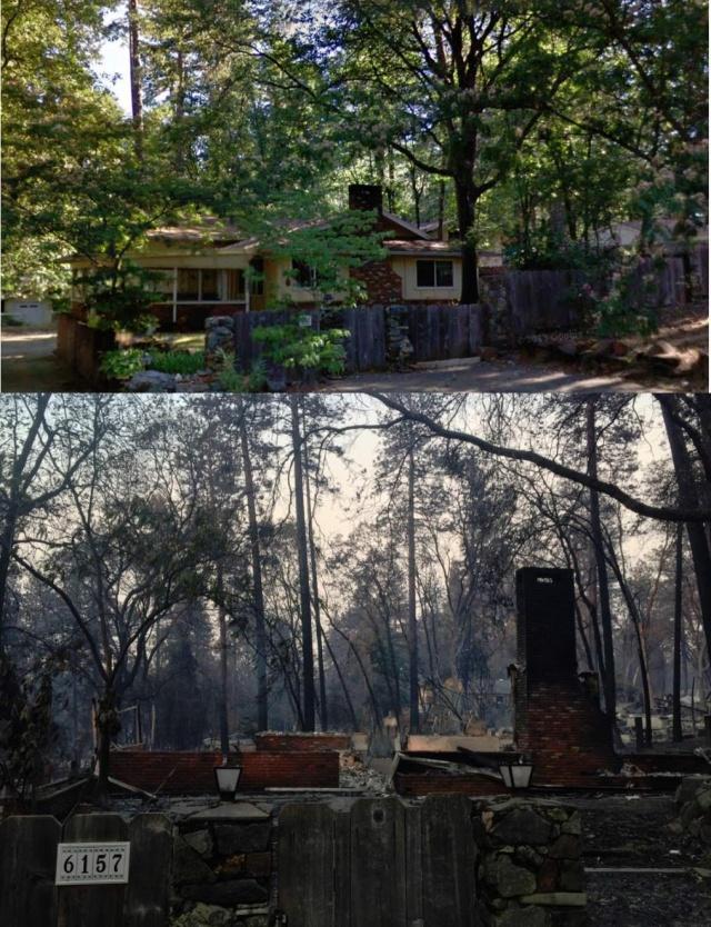 Калифорнийский город Парадайс до и после пожара (28 фото)