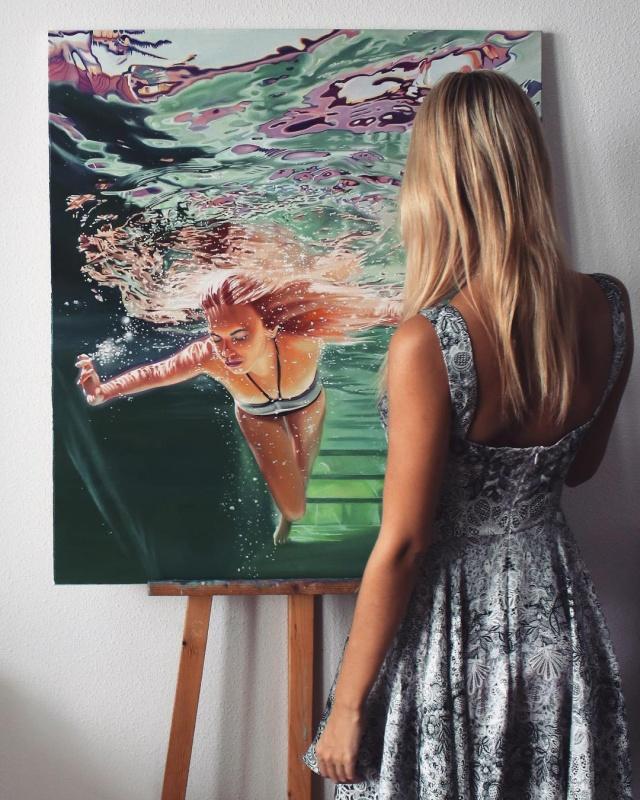 Впечатляющие картины маслом Анастасии Морской (16 фото)