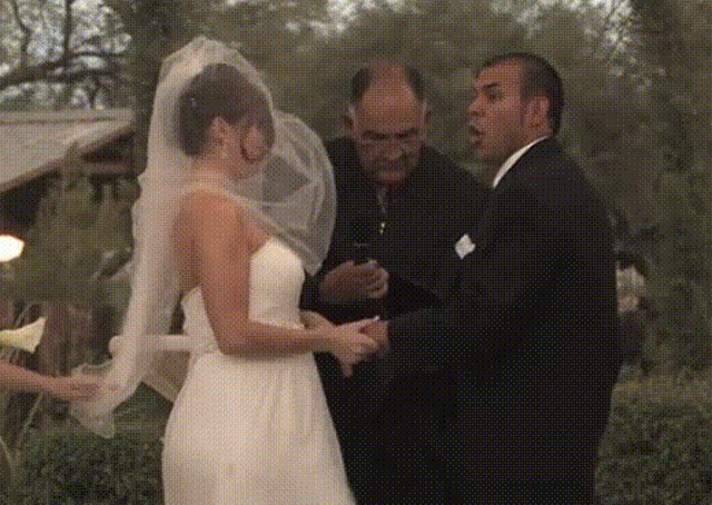Испорченные свадебные моменты (12 гифок)