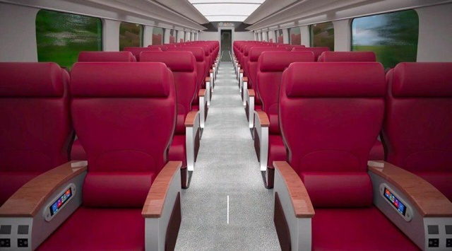 Концепт первого высокоскоростного поезда от РЖД (6 фото)