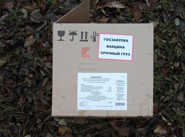 В лесу под Краснодаром нашли коробки с вакцинами (5 фото)