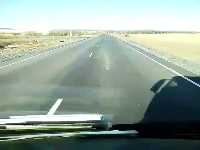 Неожиданное препятствие на трассе