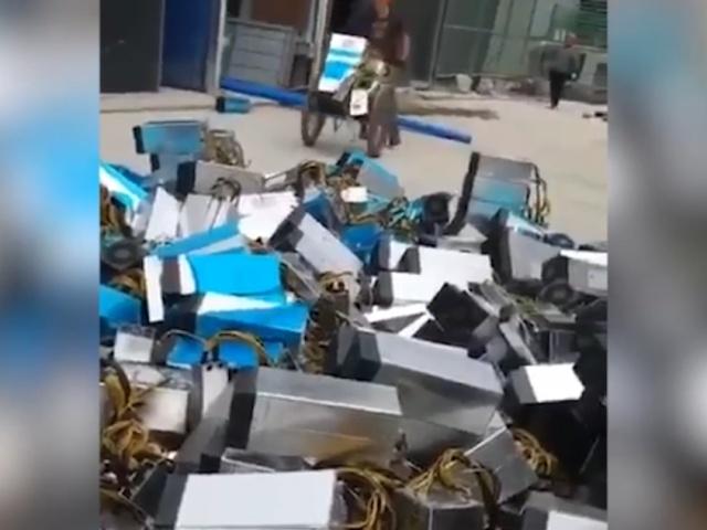 Свалки оборудования для майнинга в Китае