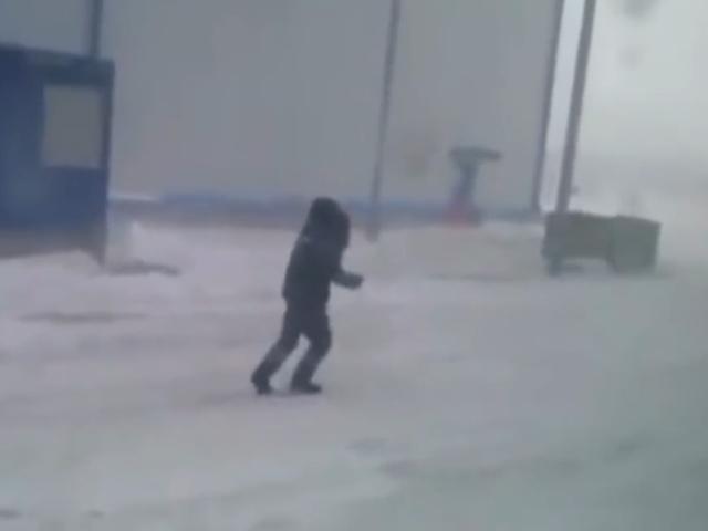 Неравная битва: северный ветер против жителя поселка Сабетта