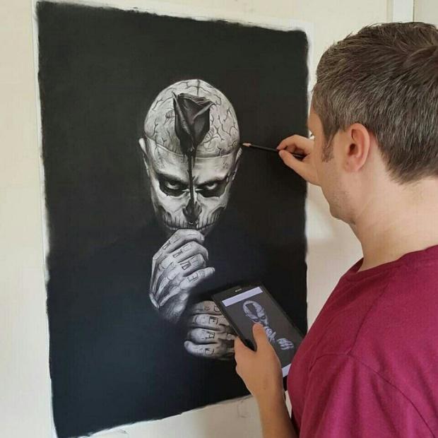 Как художник Джон Артон борется с обнаглевшими халявщики (7 фото)