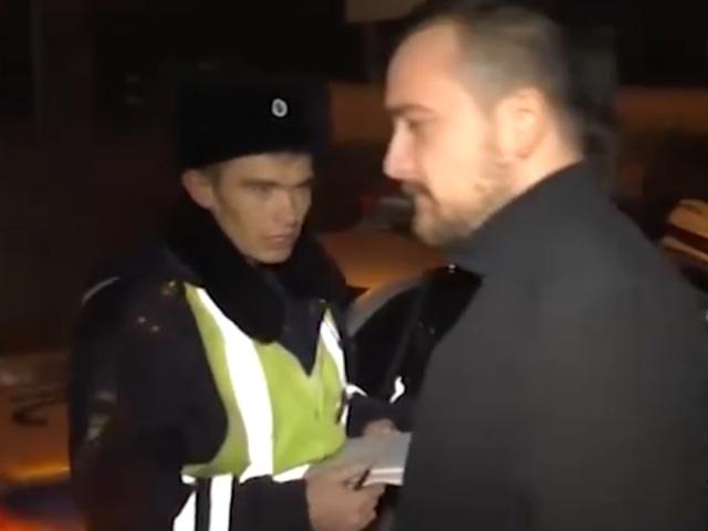 Пьяный водитель и сотрудники ДПС в Кирове