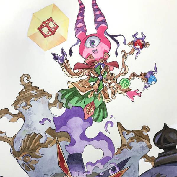 Преображение детских рисунков в персонажей аниме от Томаса Ромена (27 фото)