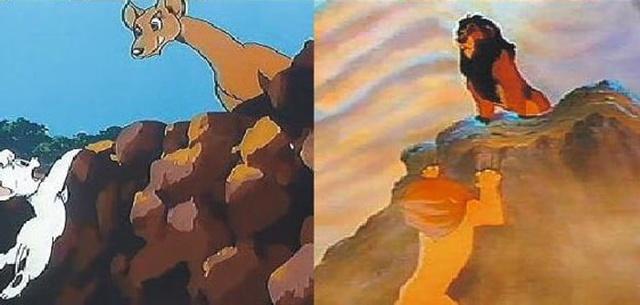 """Японское аниме """"Белый лев Кимба"""" и мультфильм """"Король Лев"""" (5 фото)"""