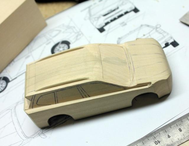 Деревянная модель кроссовера Subaru своими руками (20 фото)