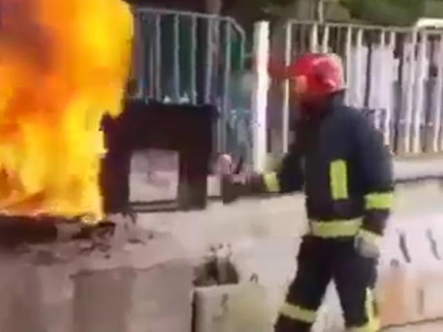 Необычный метод тушения пожаров
