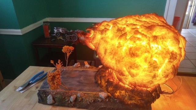 Диорама по мотивам игры Warhammer 40k (5 фото)