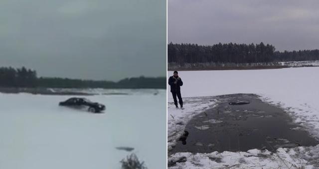 Дрифт на льду на Subaru Impreza пошел не по плану (фото + видео)