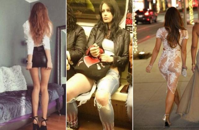 """Девушки в """"активном поиске"""" и их откровенные наряды (16 фото)"""