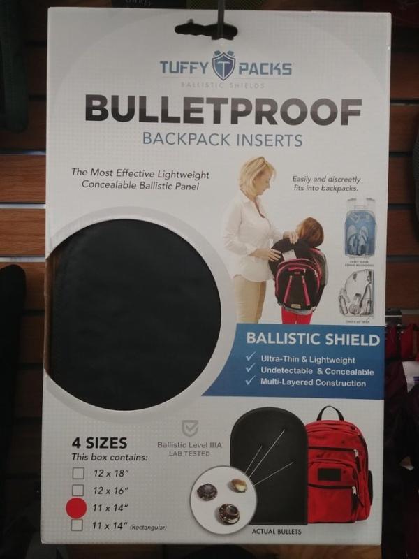 Пуленепробиваемый щит для школьного рюкзака (5 фото)