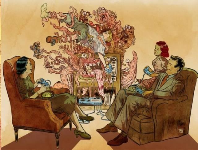 Проблемы современного общества в тематических рисунках (25 фото)