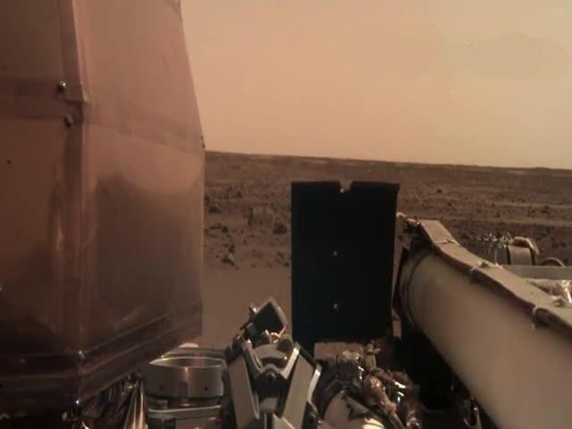 Зонд NASA записал шум ветра на Марсе