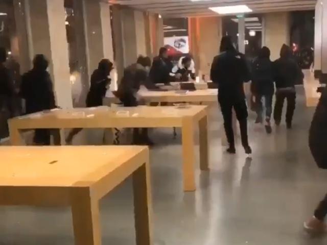 Французские мародеры ограбили фирменный магазин Apple в Бордо