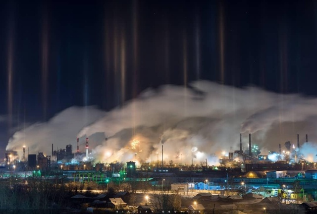 """""""Северное сияние"""" над Нижним Тагилом (5 фото)"""