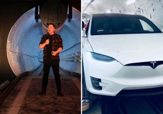 Илон Маск официально открыл подземный скоростной туннель для электромобилей под Лос-Анджелесом (6 фото + видео)