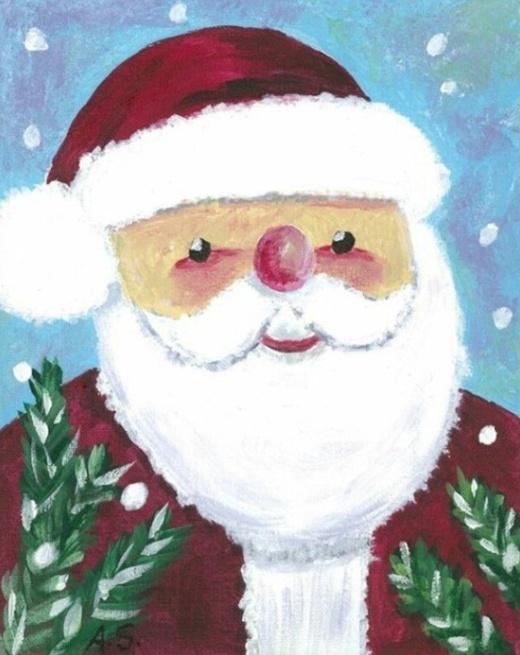 Угадайте, кто нарисовал этот милый рождественский рисунок? (3 фото)