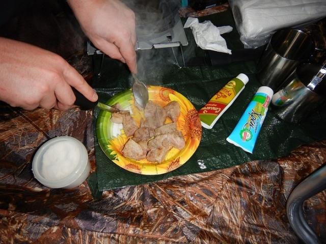 Новогодний поход в лес с палатками (9 фото)
