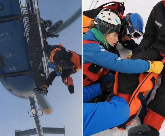 Невероятный уровень пилотирования во время эвакуации травмированного альпиниста (фото + 2 видео)