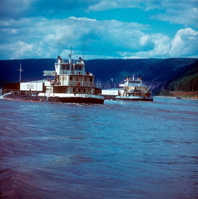 Река Лена в 1970-е годы в объективе Марка Редькина (35 фото)