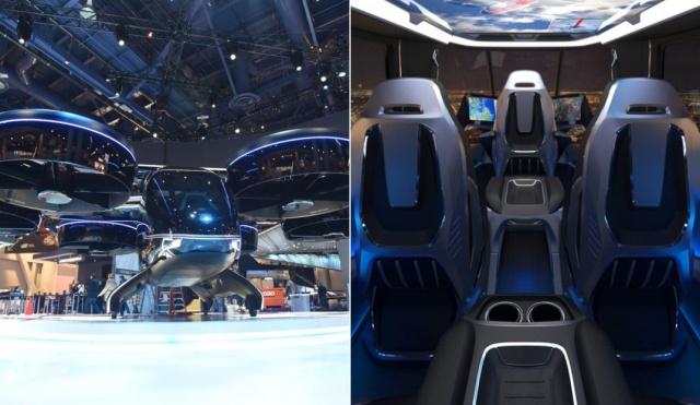 """Bell Nexus - электрический """"вертолет"""", который будет использоваться для перевозок пассажиров (7 фото + видео)"""