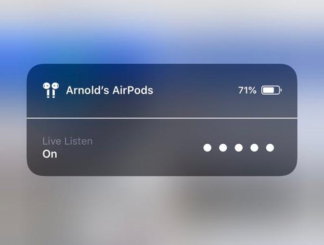 """Беспроводные наушники AirPods с функцией """"Live-прослушивание"""" можно использовать, как шпионское устройство (3 фото)"""