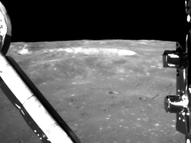 Видео посадки на обратную сторону Луны с бортовой камеры китайского аппарата Чанъэ-4