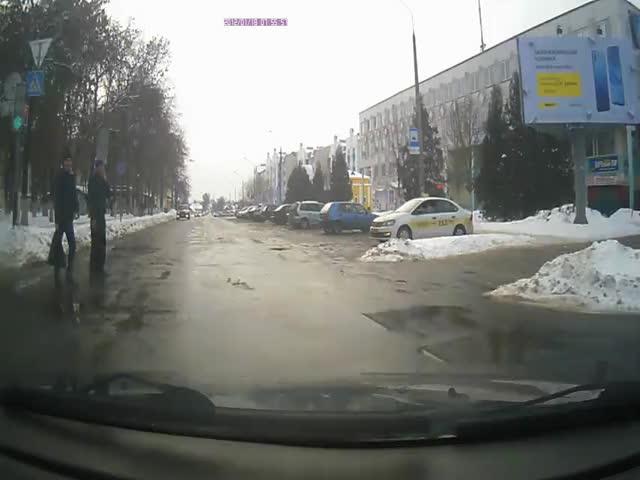 Получил штраф за то, что не пропустил пешеходов