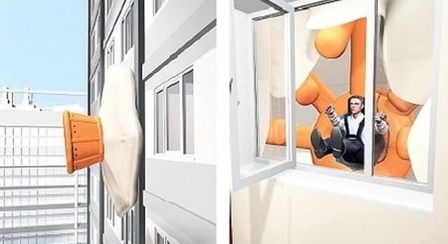 Уникальная система СПАРС для экстренной эвакуации из здания (5 фото)