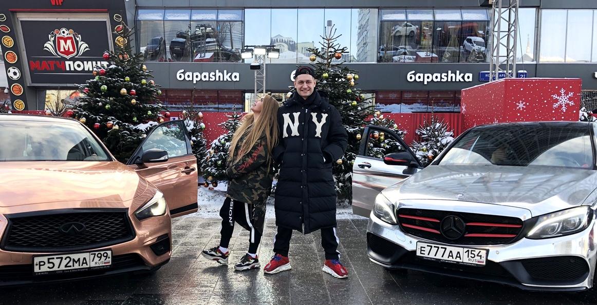 Блогеры Давид Манукян и Карина Лазарьянц перекрыли три полосы Арбата для съемок своего клипа (фото + видео)