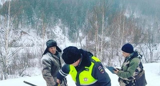 """Задержание """"опасного преступника"""" в Башкортостане (2 фото)"""
