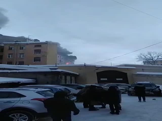 Неожиданная реакция служащих Арбитражного суда в Петербурге, в котором начался пожар