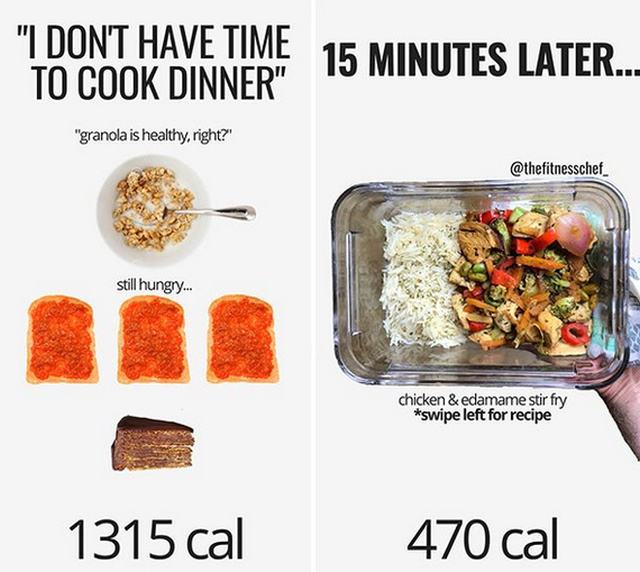 Интересная инфографика про полезную и вредную еду (16 фото)