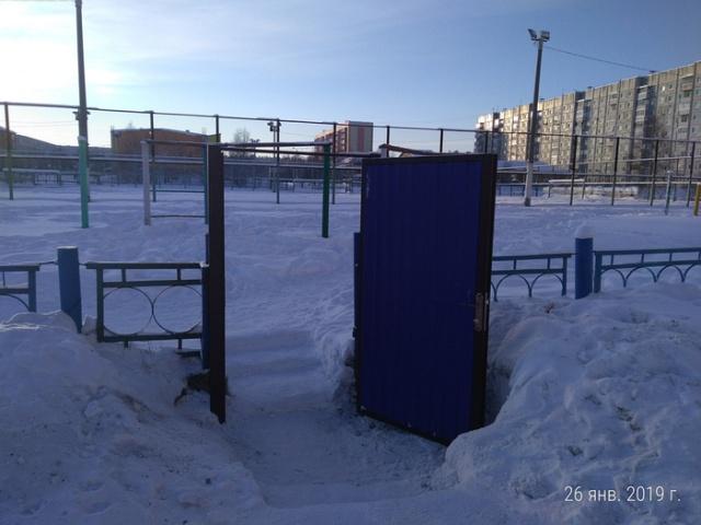В школе Сосногорска установили новые калитки... (4 фото)