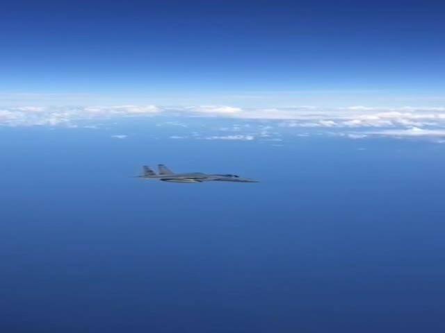"""Су-27 """"отогнал"""" истребитель НАТО от правительственного самолета РФ"""