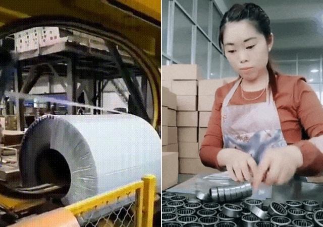 Процесс упаковывания различных товаров и вещей (17 гифок)