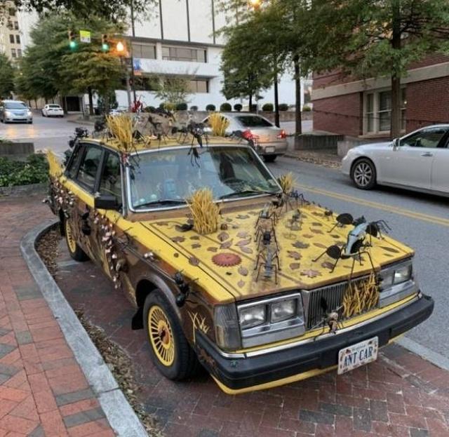Странные автомобили и необычный тюнинг (37 фото)