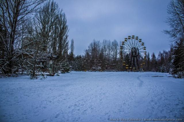 Зимняя прогулка по Припяти в 2019 году (15 фото)