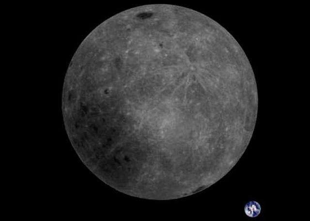 Земля и обратная сторона Луны на одном снимке (3 фото)