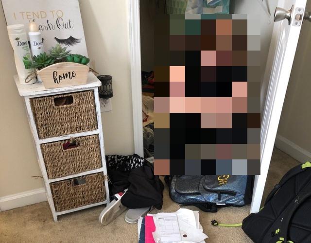 """""""Привидение"""", которое жило в шкафу американской студентки (6 фото)"""