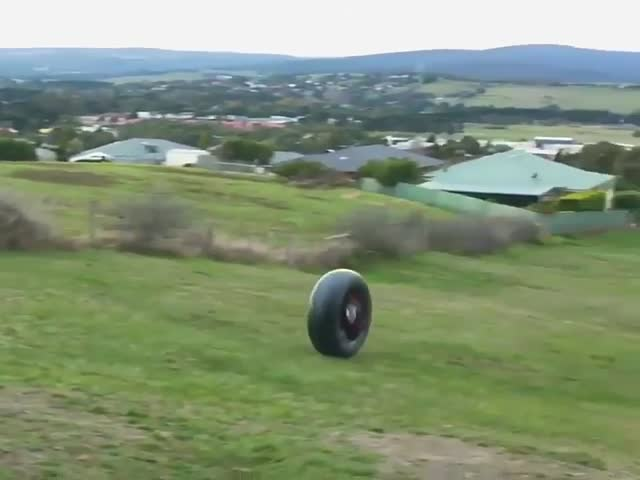 Претендент на премию Дарвина прокатился с горы в автомобильной камере