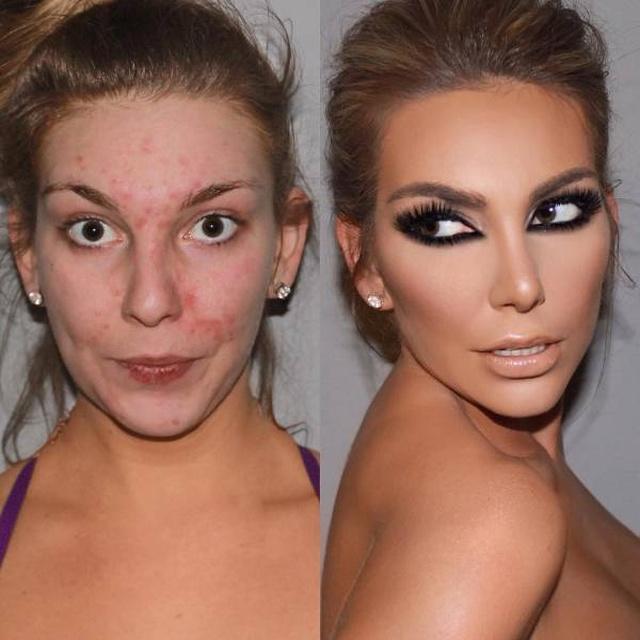 Сила макияжа: до и после (19 фото)