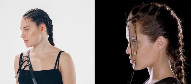 Анастасия Брызгалова в образе Лары Крофт и Малифисенты (5 фото)