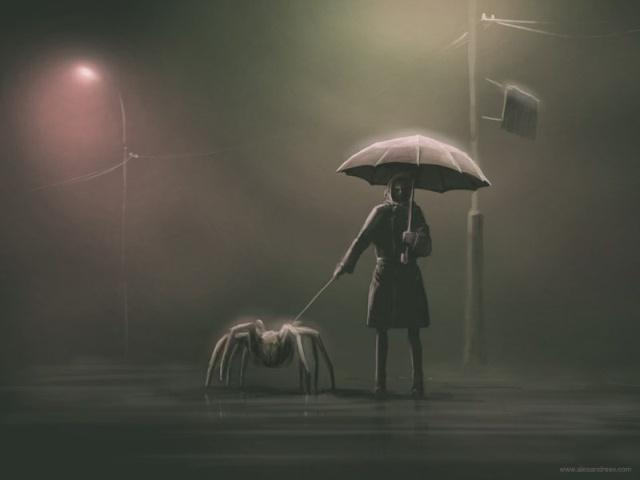 Пугающие и мрачные арты от художника Алексея Андреева (30 рисунков)