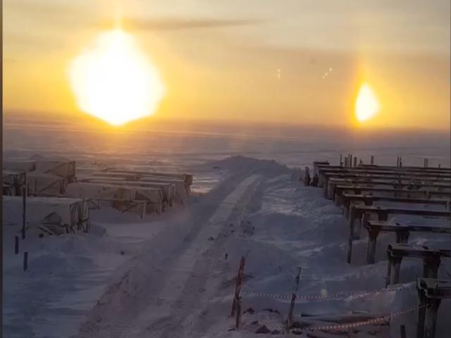 Утро в Ямало-Ненецком автономном округе