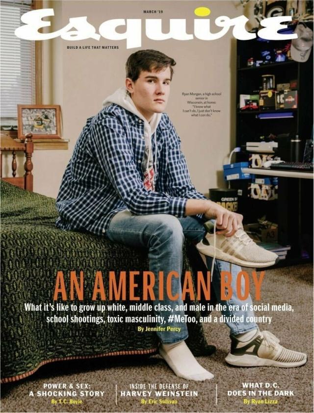 Журнал Esquire обвинили в расизме за статью о проблемах белого гетеросексуального подростка (2 фото)