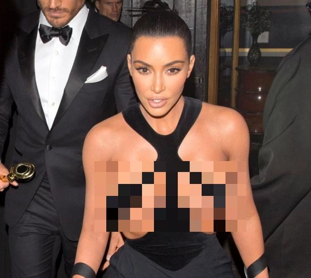 Ким Кардашьян удивила Голливуд своим откровенным платьем (6 фото)